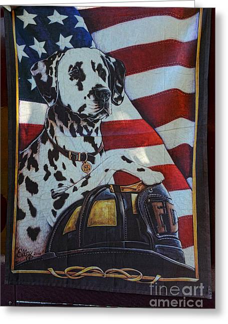Dalmatian The Firefighters Mascot Greeting Card
