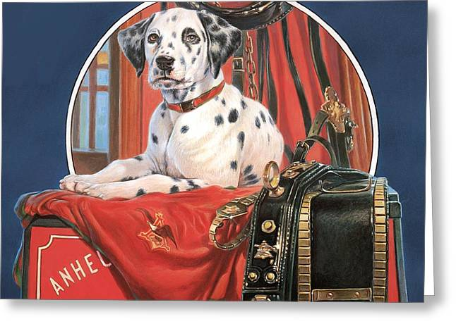 Dalmation Ab Greeting Card by Hans Droog