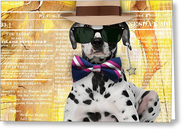 Dalmatian Bowtie Collection Greeting Card by Marvin Blaine