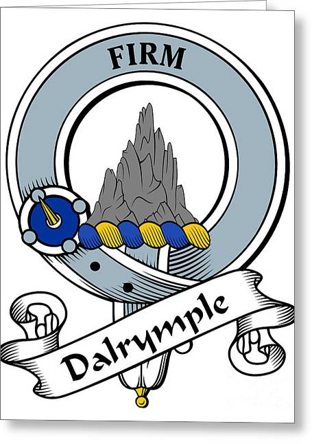 Dalrymple Clan Badge Greeting Card by Heraldry