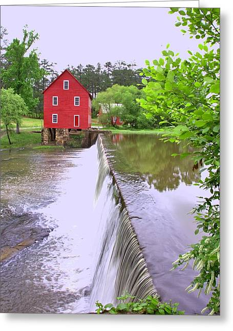 Dam At Starrs Mill Greeting Card by Gordon Elwell