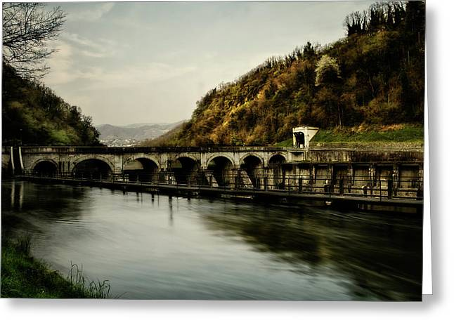 Dam On Adda River Greeting Card