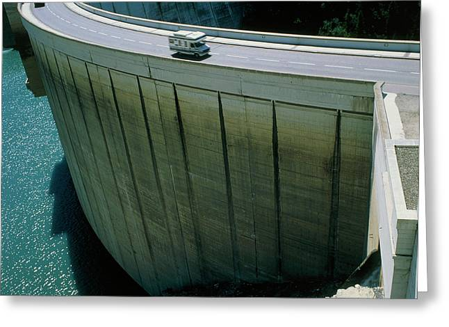 Dam Used For Hydroelectric Power Generation Greeting Card by Science Photo Library