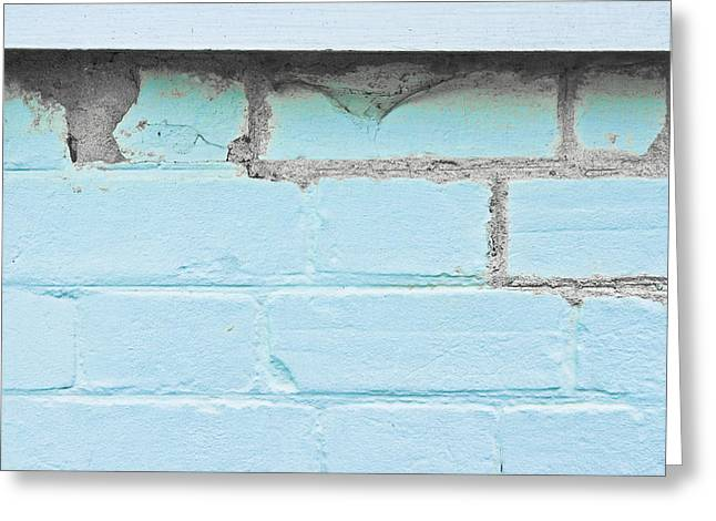Damaged Brickwork Greeting Card by Tom Gowanlock