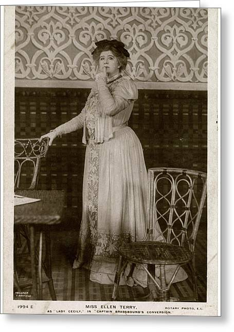 Dame Ellen Alice Terry (1847  1928) Greeting Card by Mary Evans Picture Library