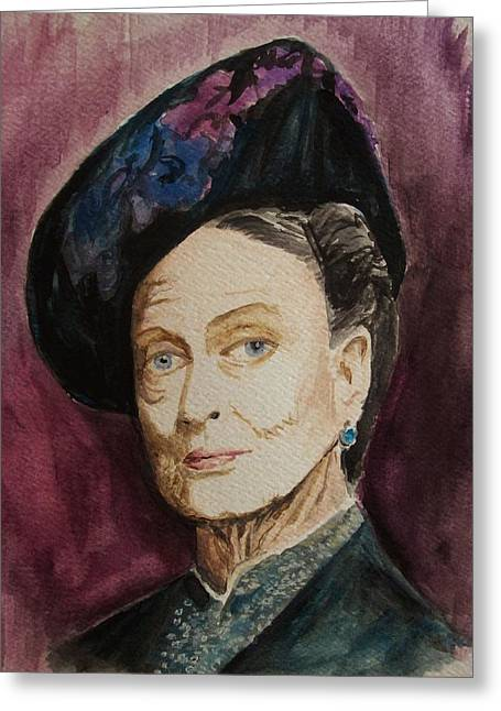 Dame Maggie Smith Greeting Card by Amber Stanford