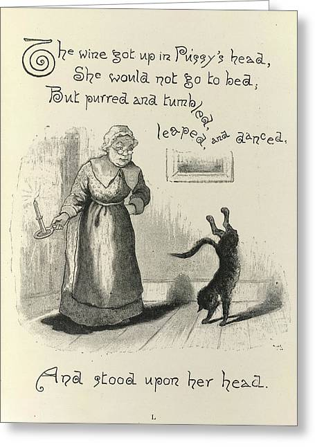 Dame Trot's Cat Greeting Card by British Library