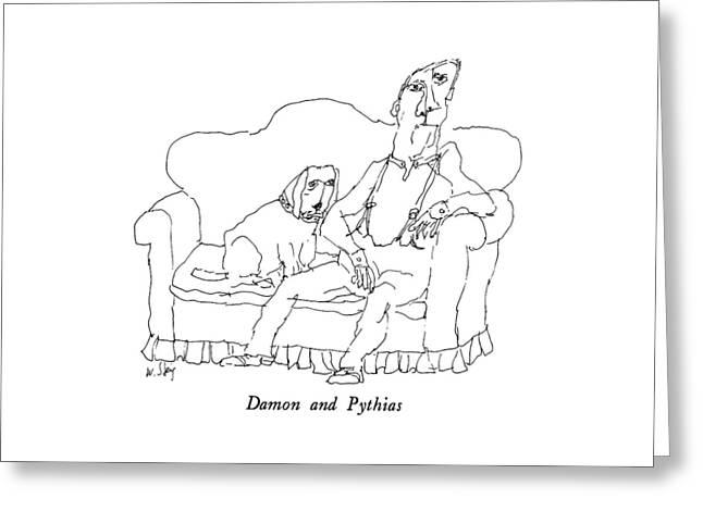 Damon And Pythias Greeting Card