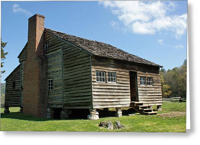 Dan Lawson Cabin In Cades Cove Greeting Card by Roger Potts