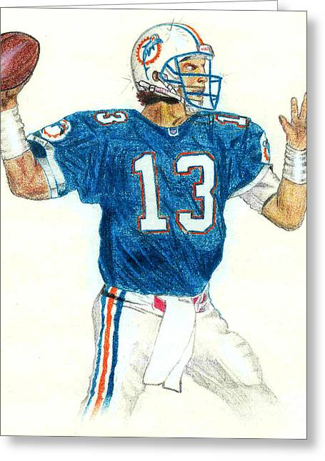 Dan Marino Greeting Card by Craig Nelson