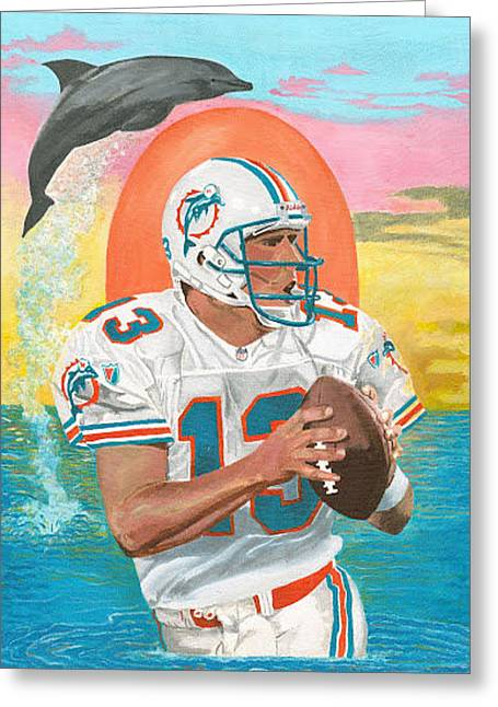 Dan Marino Greeting Card by Jeff Gomez