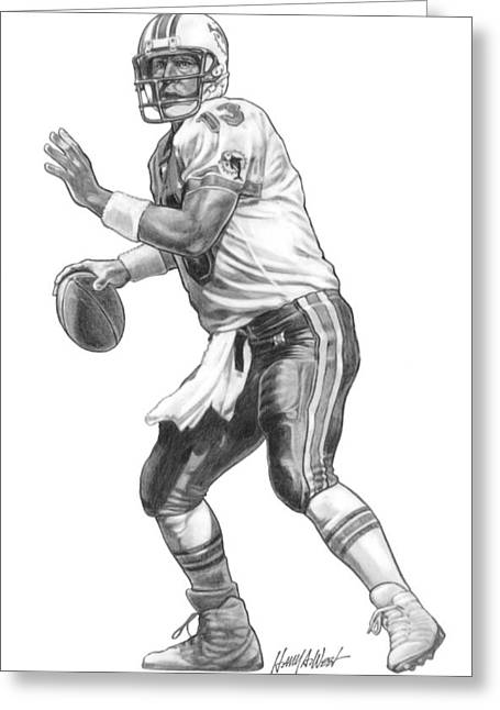 Dan Marino Qb Greeting Card