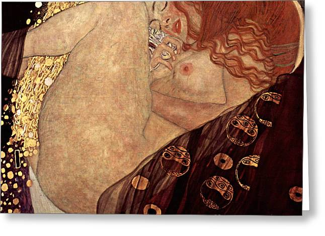 Danae Greeting Card by Gustive Klimt