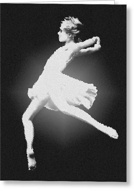 Dance - Glass Greeting Card by Nicholas Evans