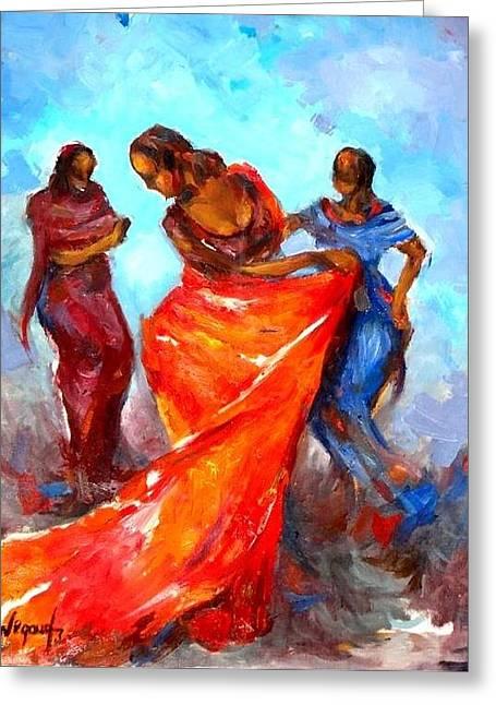 Dance 3 Greeting Card by Negoud Dahab