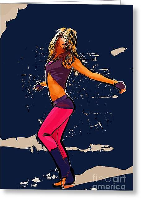 Dance 8 Greeting Card by College Town