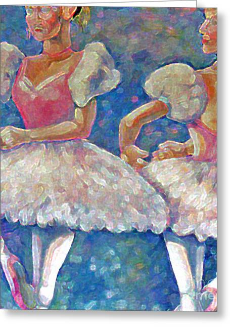 Greeting Card featuring the painting Dance Ballerina by Rita Brown