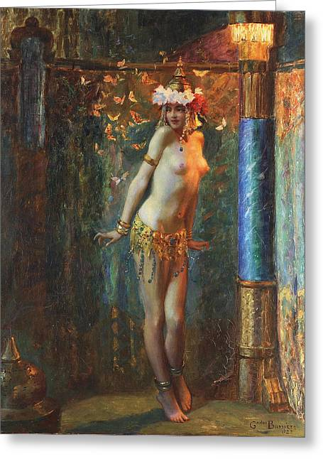 Dance De Salome Greeting Card by Gaston Bussiere