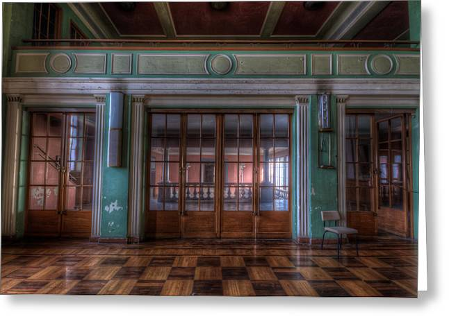 Dance Doors Greeting Card by Nathan Wright