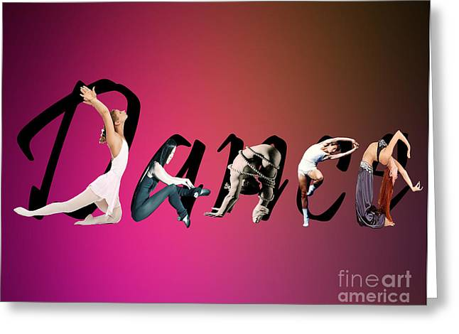 Greeting Card featuring the digital art Dance Expressions by Megan Dirsa-DuBois
