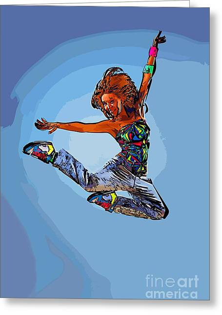 Dance For Art 56 Greeting Card by College Town