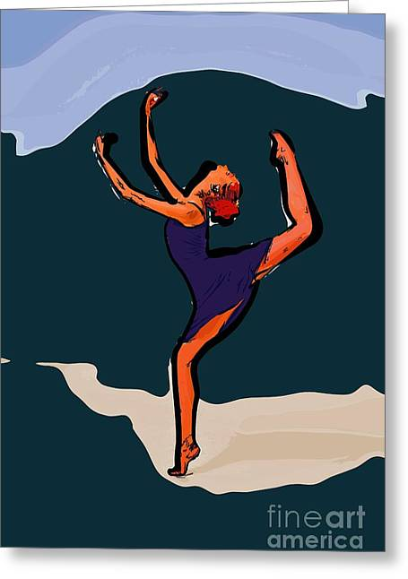 Dance For Art 58 Greeting Card by College Town