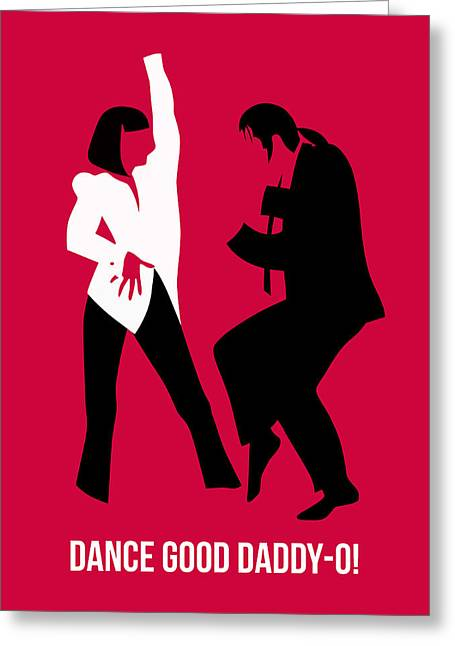 Dance Good Poster 2 Greeting Card by Naxart Studio