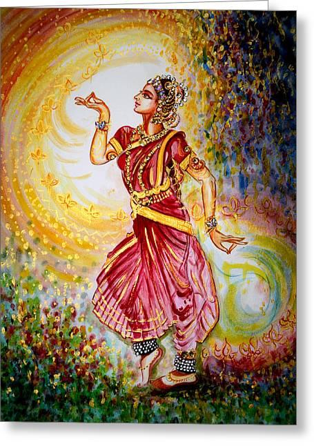 Dance 2 Greeting Card by Harsh Malik