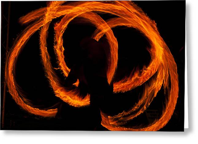Dance In The Flames Greeting Card by Mandy Judson