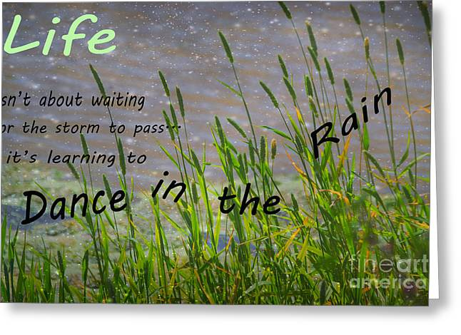 Dance In The Rain Greeting Card by Beverly Guilliams