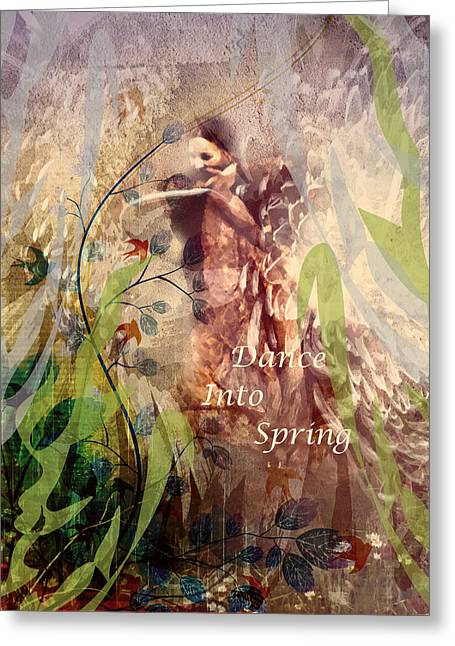 Dance Into Spring Greeting Card