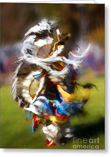 Dance Greeting Card by Linda Blair