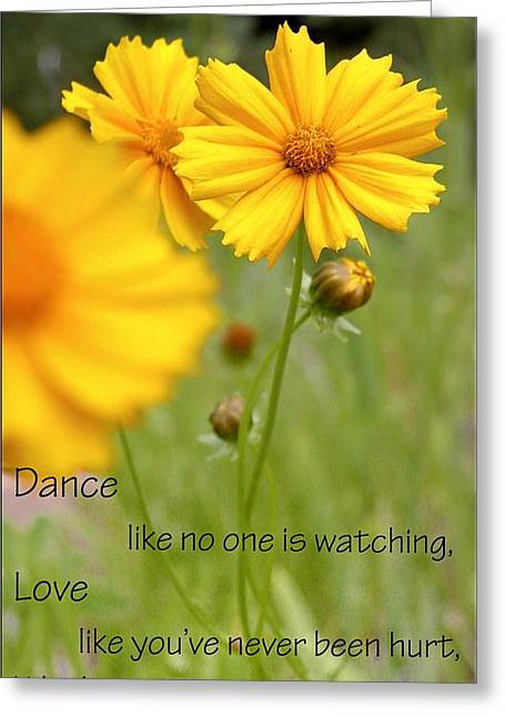 Dance Love Work 200509 Greeting Card by Jerry Sodorff