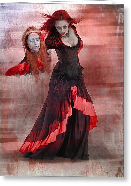 Dance Macabre Greeting Card by Hazel Billingsley