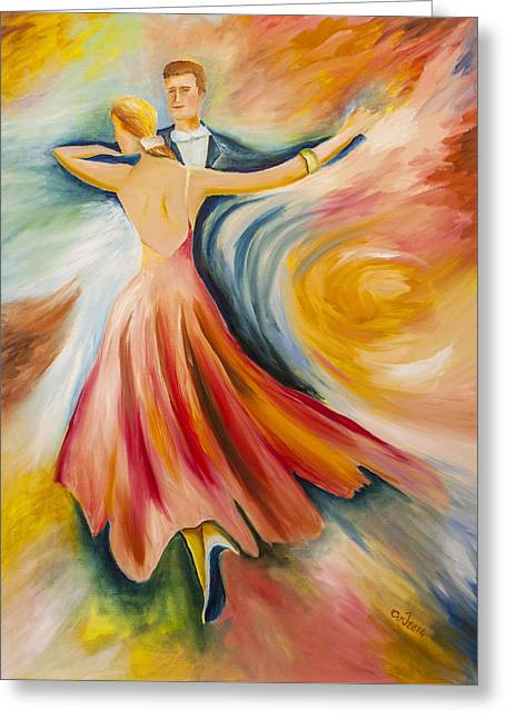 Dance Me To The End Of Time Greeting Card by Music of the Heart
