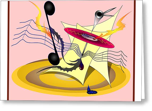 Dance Music Greeting Card