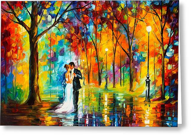 Dance Of Love Greeting Card by Leonid Afremov