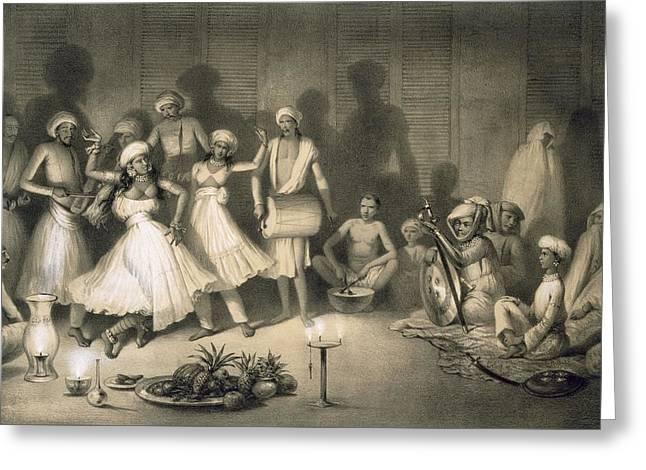 Dance Of Nautch Girls Greeting Card