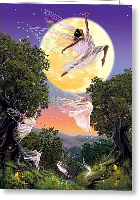 Dance Of The Moon Fairy Greeting Card