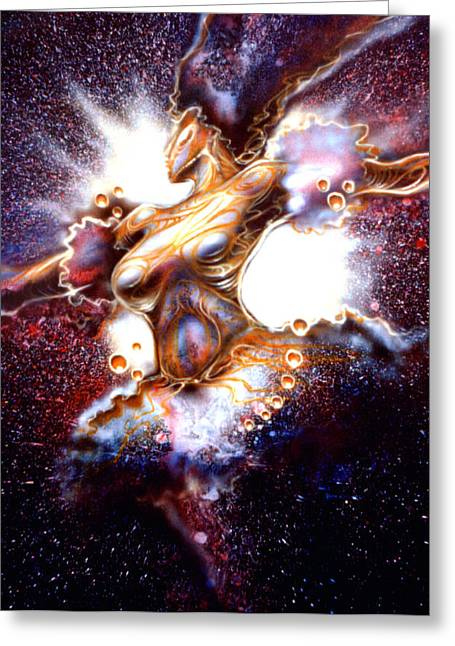Dance Of The Nebula Greeting Card by Mike Underwood