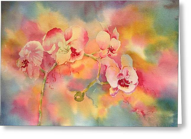 Dance Of The Orchids Greeting Card