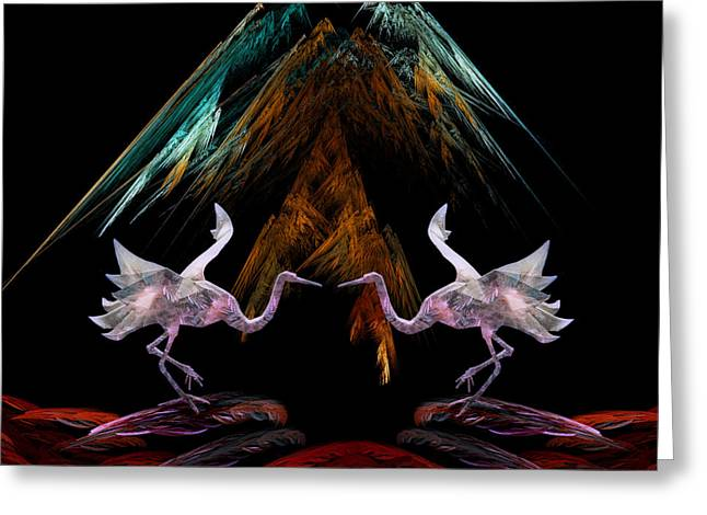 Dance Of The Paper Cranes Greeting Card