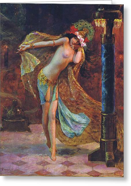 Dance Of The Veils Greeting Card by Gaston Bussiere