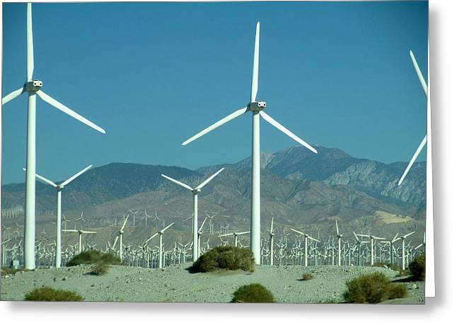 Dance Of The Wind Turbines Greeting Card
