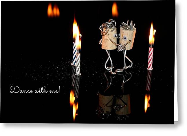Dance With Me Greeting Card by Heike Hultsch