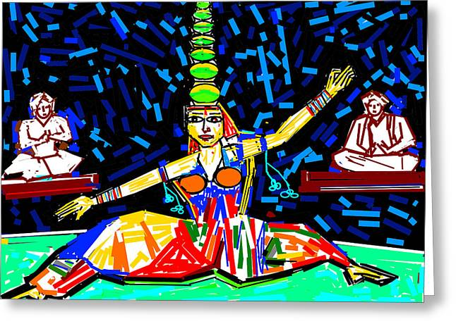 Dance With Pots Greeting Card by Anand Swaroop Manchiraju