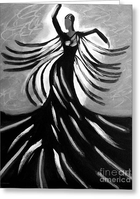 Greeting Card featuring the painting Dancer 2 by Anita Lewis