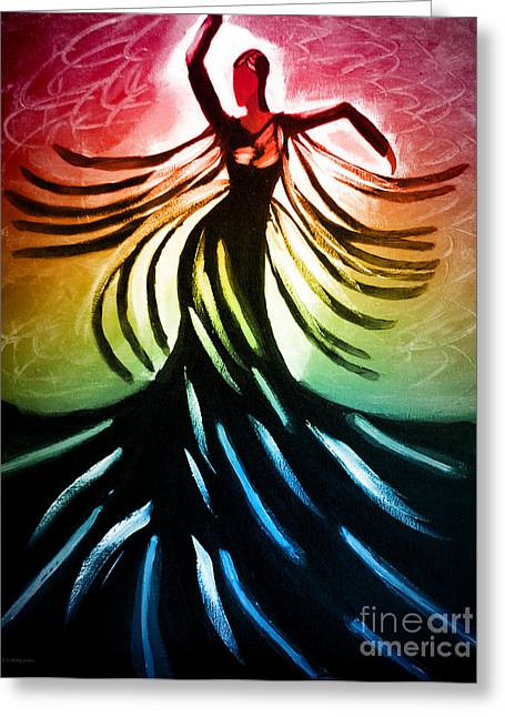 Dancer 3 Greeting Card by Anita Lewis