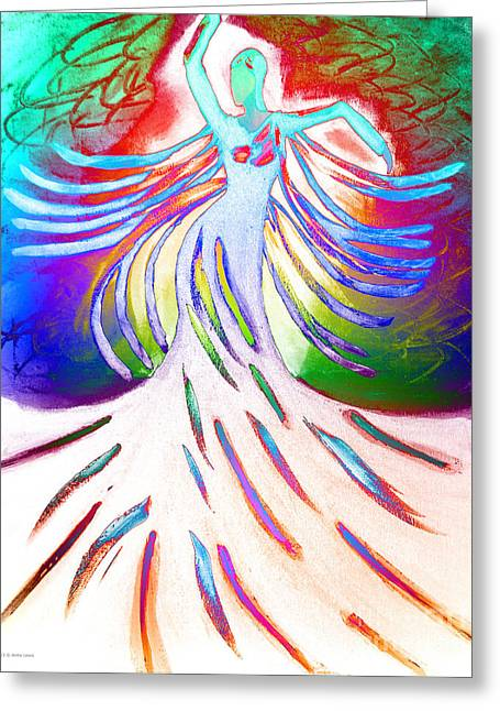 Greeting Card featuring the painting Dancer 4 by Anita Lewis