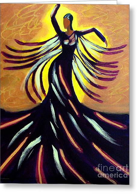 Greeting Card featuring the painting Dancer by Anita Lewis